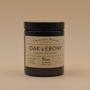 Charlotte Spencer Oak & Ebony Botany Candle