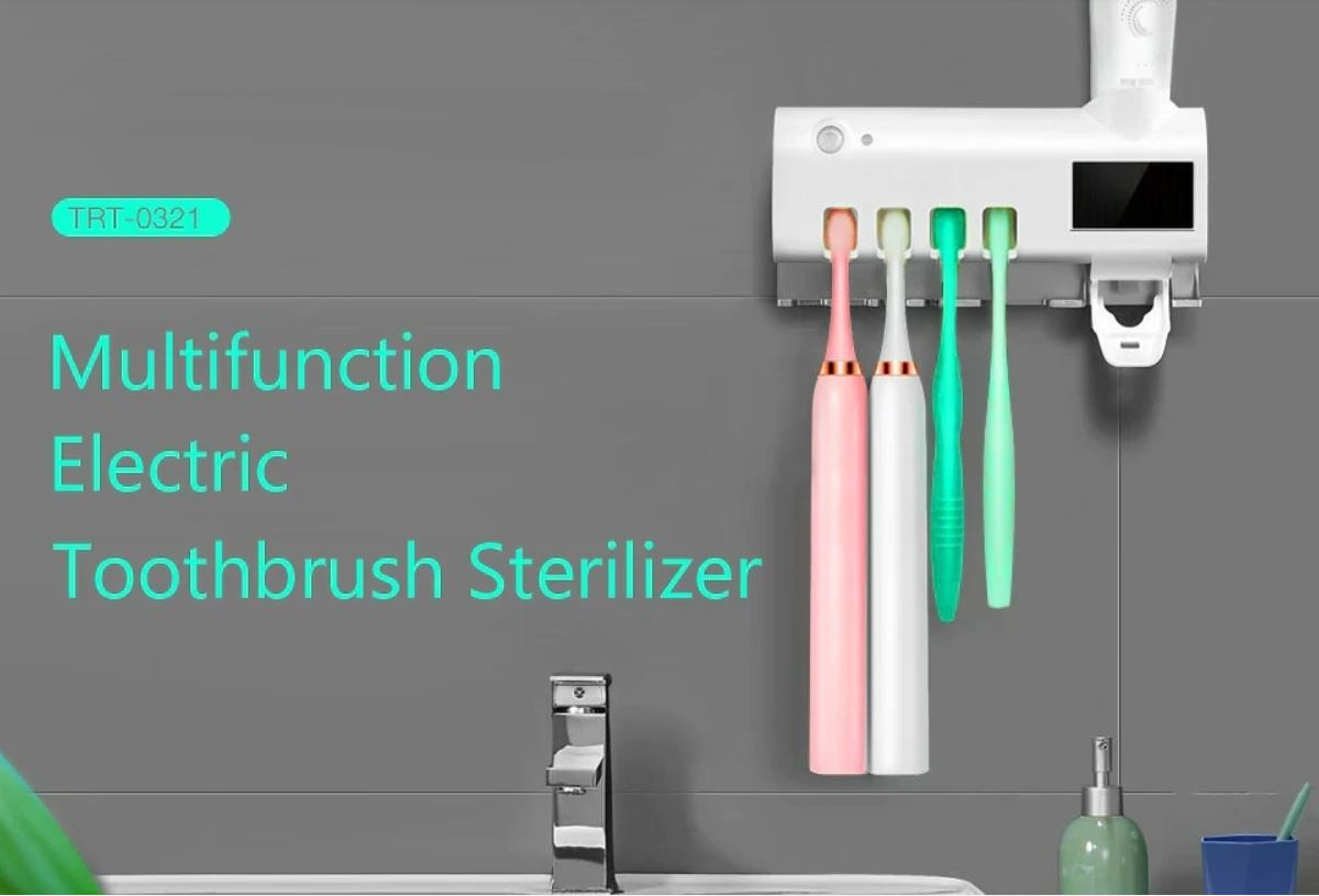 BodyPremium™  Smart PIR Induction Electric Toothbrush Sterilizer Toothbrush Holder Sterilization Disinfector for Soocas/Oclean/Oral B/Xiaomi/Mijia Electric Toothbrushes