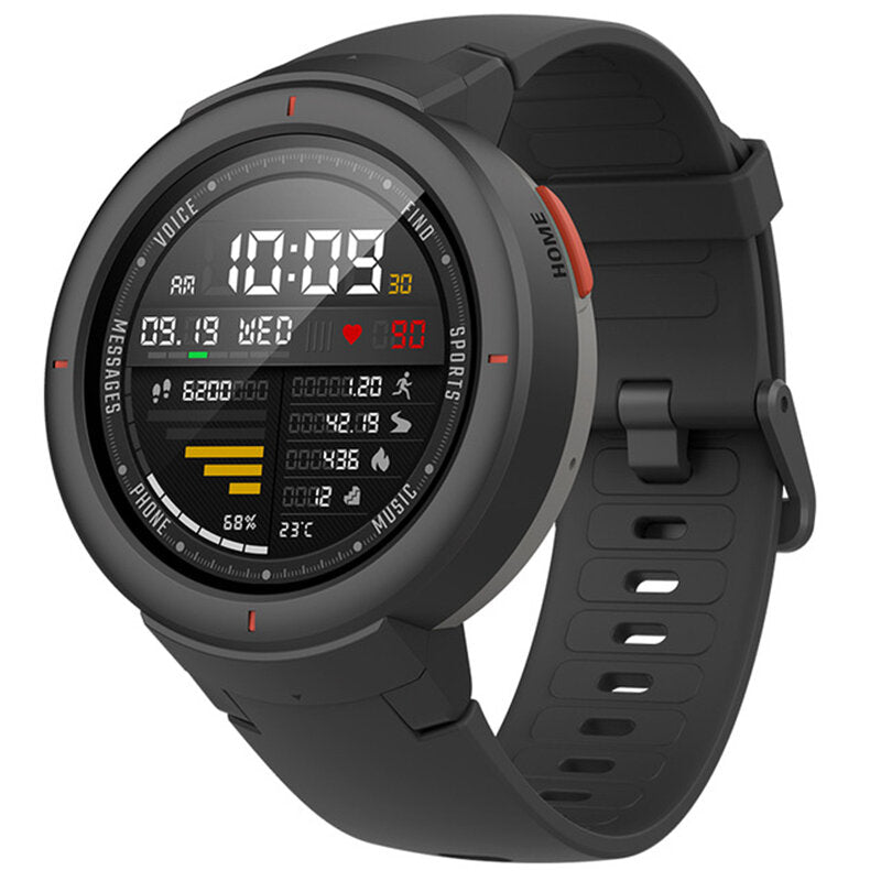 Original Amazfit Verge International Version AMOLED IP68 bluetooth Calling GPS+GLONASS Smart Watch from xiaomi Eco-System - Dark Blue