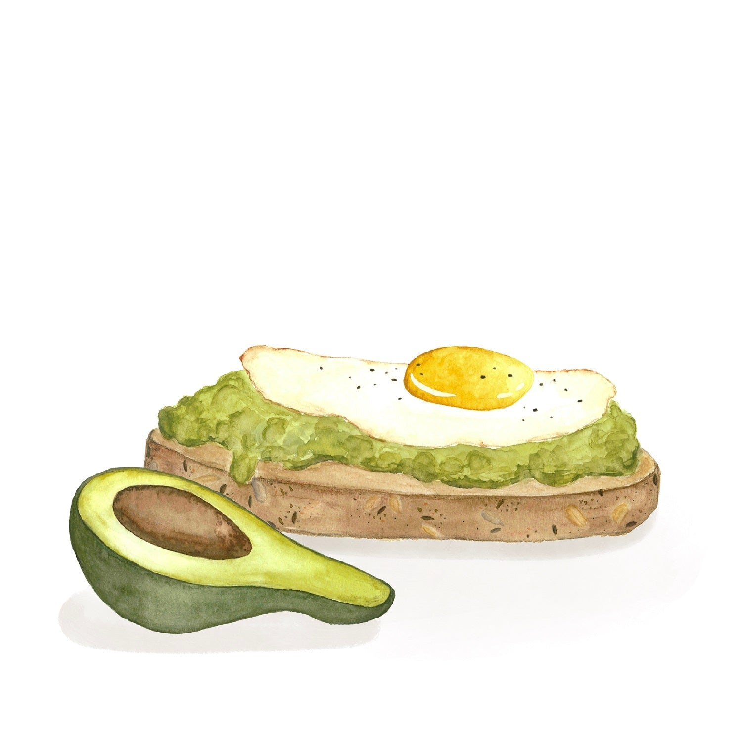 Avocado Toast Art Print