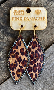 Leopard Feather Studded Earring