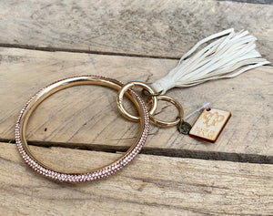 Rosegold & Cream Fringe Bangle Keychain
