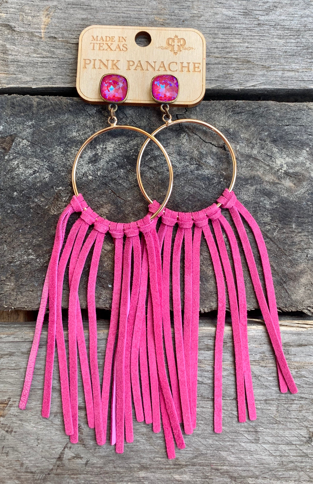Hot Pink Ring & Fringe Earring