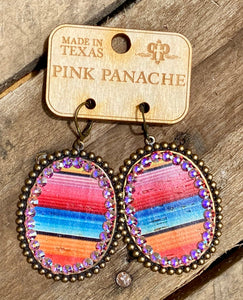 Serape Large Oval Earring