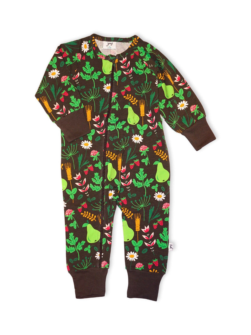 Jumpsuit Zip Spring Greenery