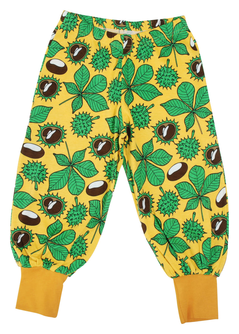 Baggy Pants - Chestnut - Daffodil Yellow