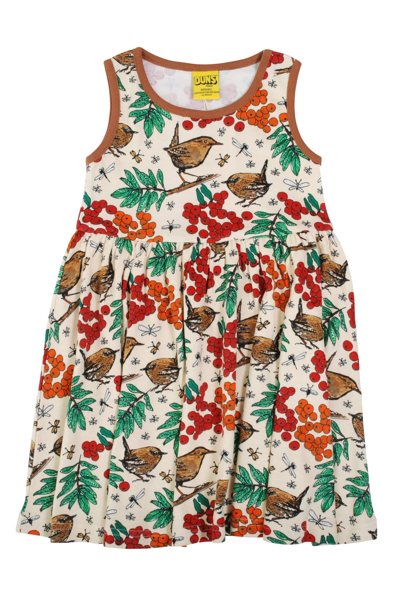 Sleeveless Dress with Gather Skirt - Rowanberry - Mother of Pearl