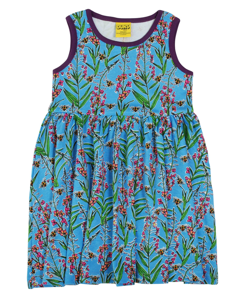 Sleeveless Dress with Gather Skirt - Willowherb - Blue