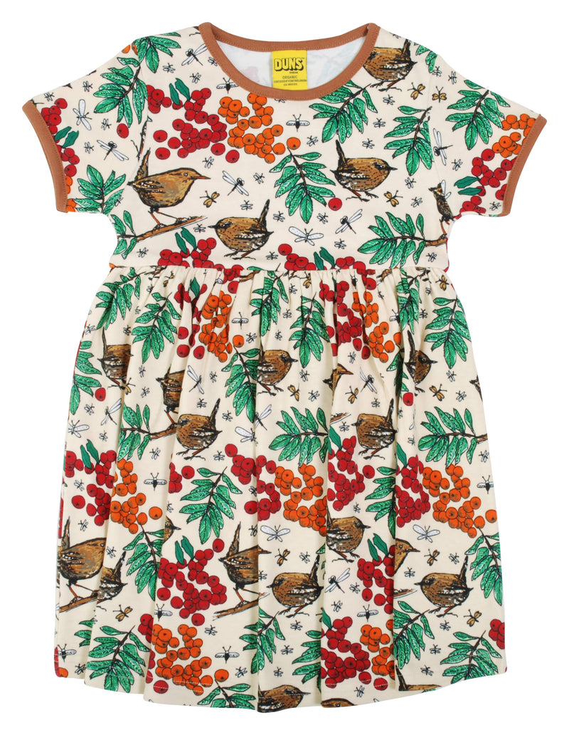 Short Sleeve Dress with Gather Skirt - Rowanberry - Mother of Pearl