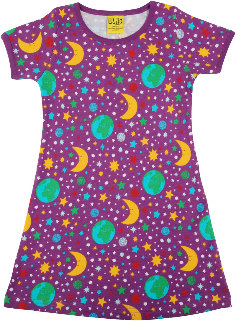 Adult Short Sleeve Dress - Mother Earth - Bright Violet