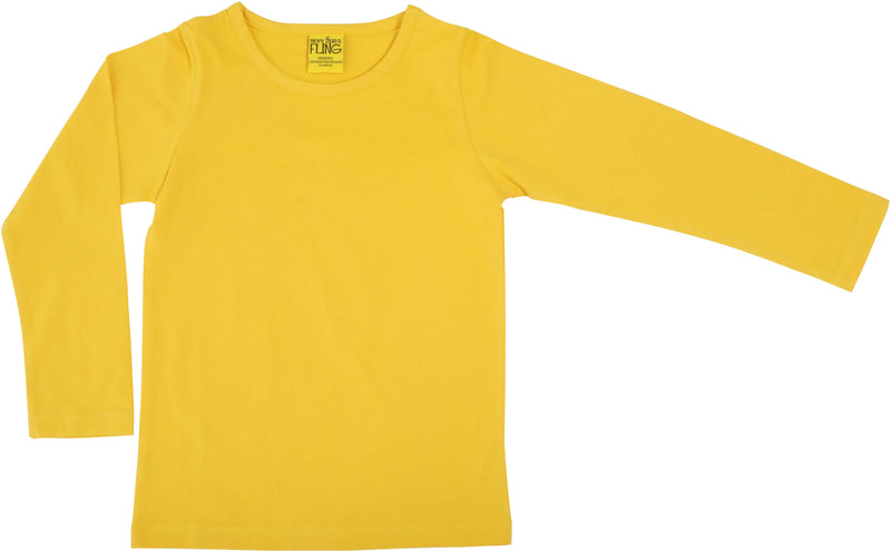 Long Sleeve Top - Warm Yellow