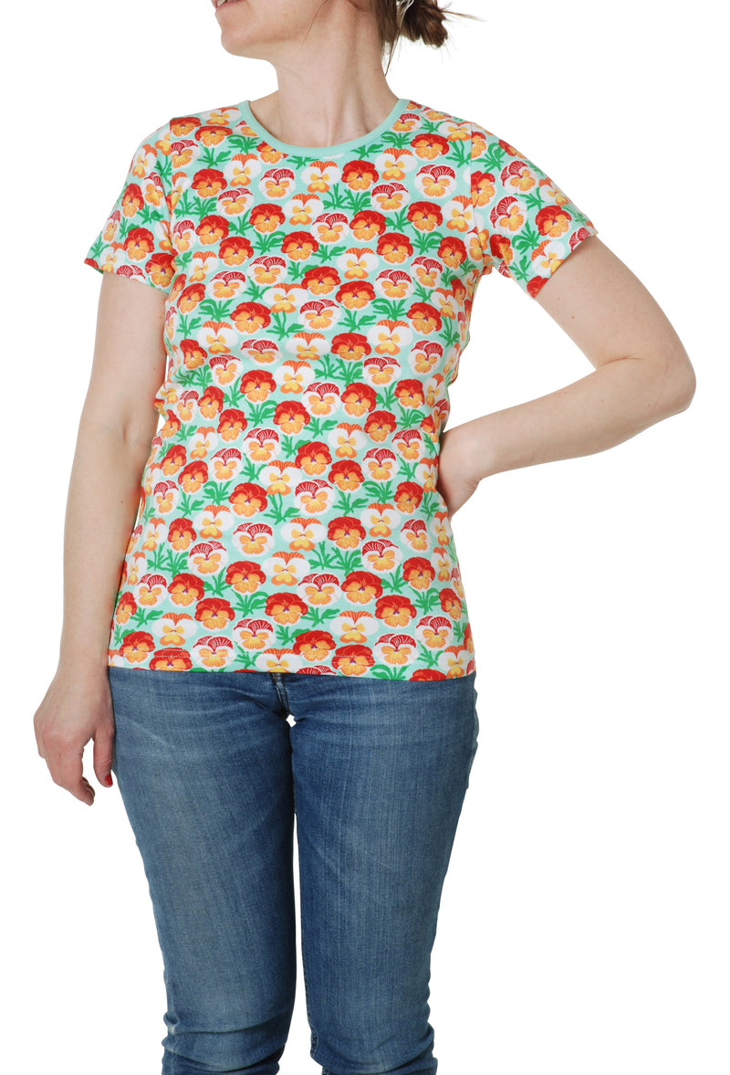 Adult Short Sleeve Top - Pansy - Beach Glass