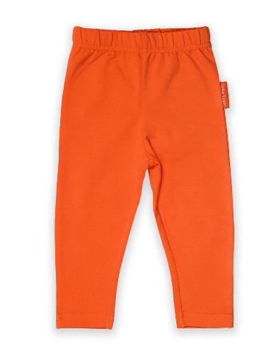 Orange Basic Leggings