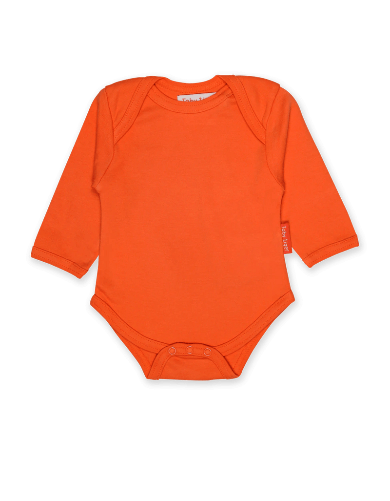 Orange Basic LS Babygrow