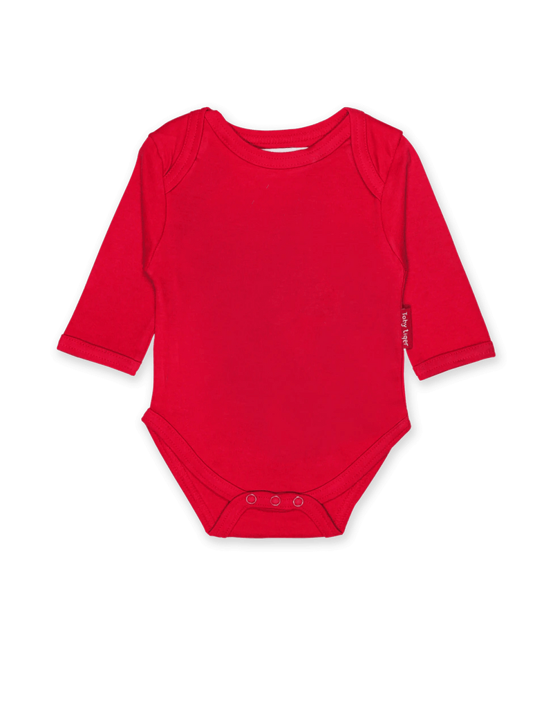 Red Basic LS Babygrow