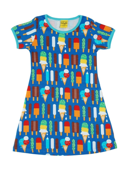 Short Sleeve Dress - Ice Cream Blue