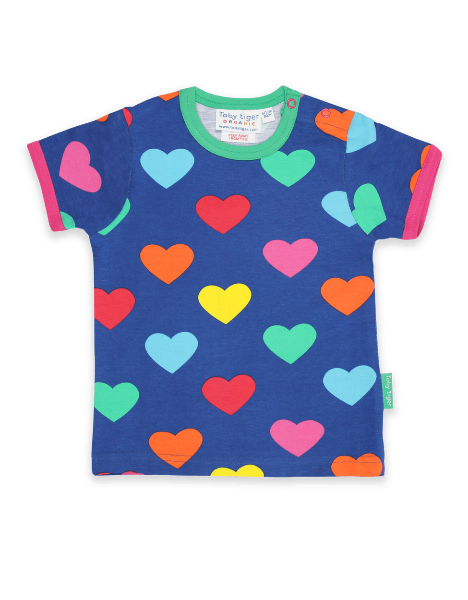 Multi Heart Print T-Shirt