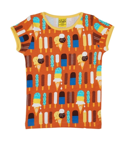Short Sleeve Top - Ice Cream Pumpkin