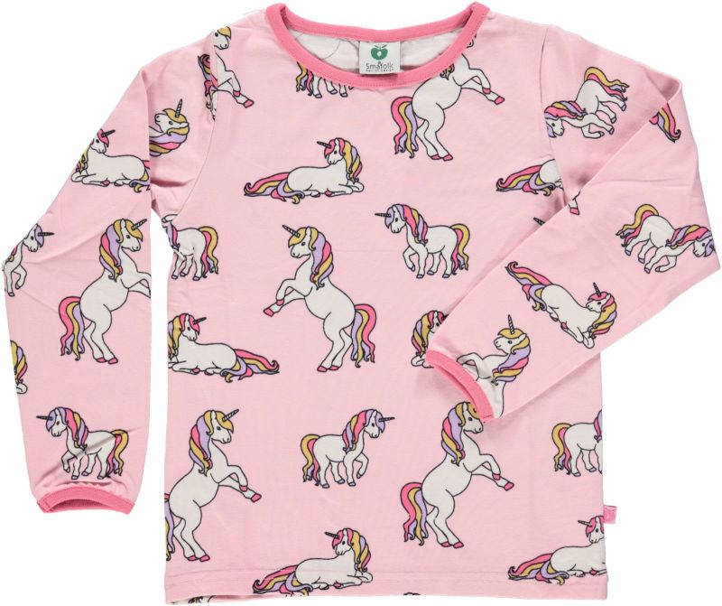 Long Sleve T-shirt Unicorns - Pink