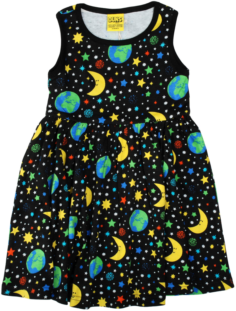 Sleeveless Dress with Gather Skirt - Mother Earth - Black