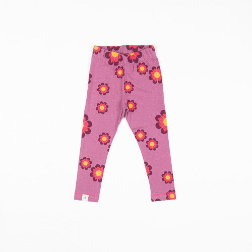 Haniella Leggings - Bordeaux Flower Power Love