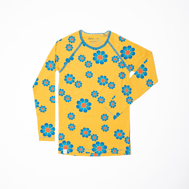 My All Time Favorites Long Sleeve - Bright Gold Flower Power Love
