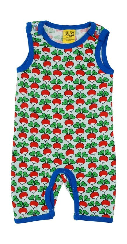 Sleeveless Play Suit - Radish - Eggshell