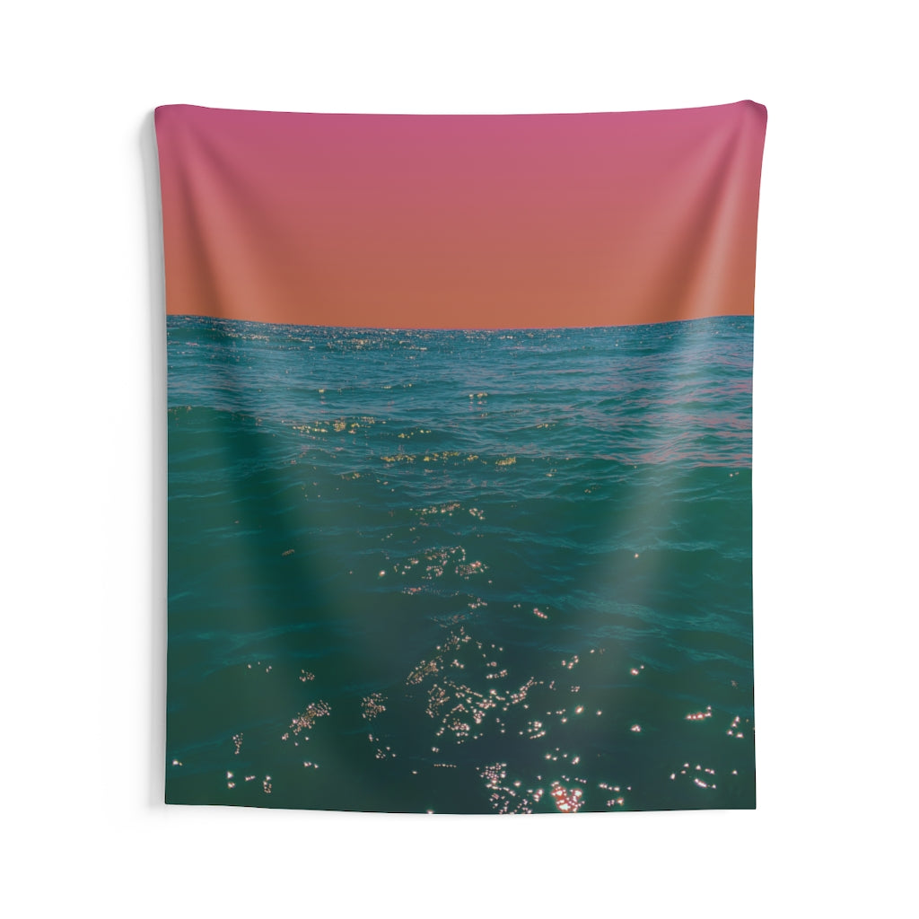 Indoor Wall Tapestries - Burning Summer's Evening
