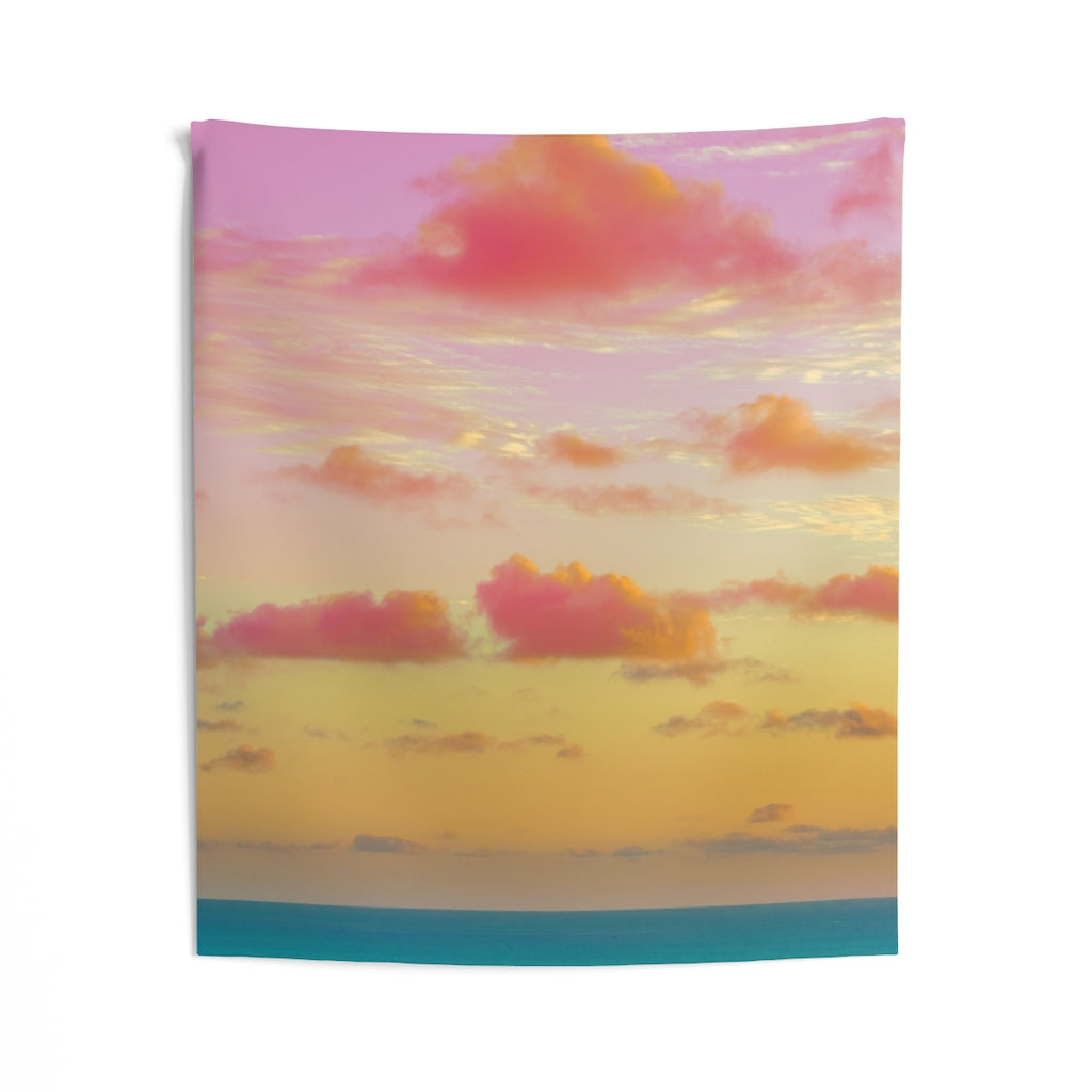 Indoor Wall Tapestries - Cotton Candy Clouds