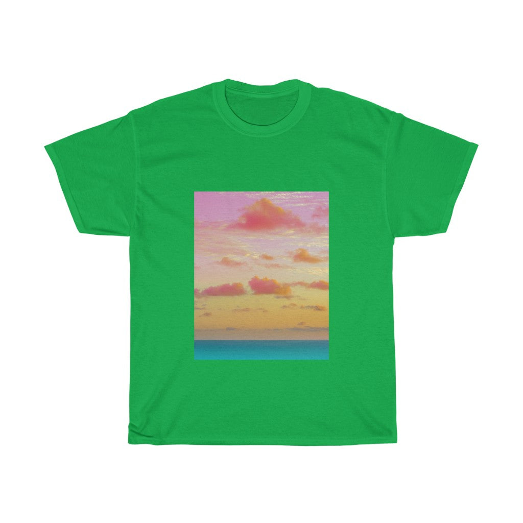 Unisex Heavy Cotton Tee - Cotton Candy Clouds