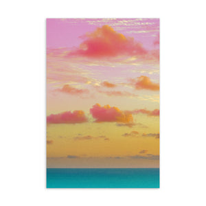 Standard Postcard - Cotton Candy Clouds