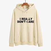 """I REALLY DONT CARE""Graphic Slogan Sweatshirt"