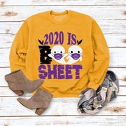 2020 IS Boo Sheet Letter Yellow Sweatshirt