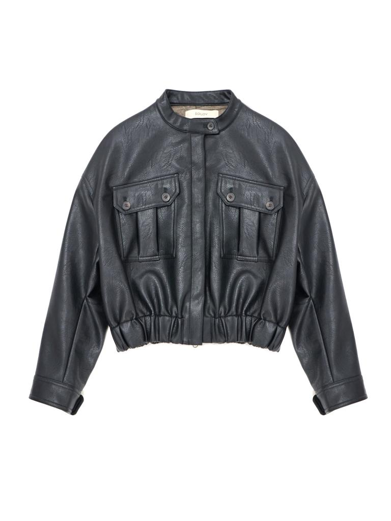 《SALE》LEATHERLETTO WORK JACKET (40%OFF)