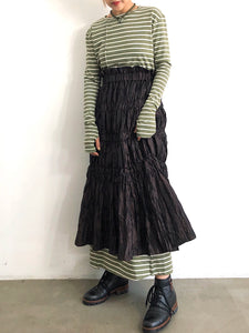 90'S BORDER LONG DRESS