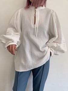 COTTON GAUZE KAFTAN TOPS