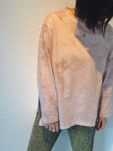 MYSTY LIGHT TIE-DYE SLIT LONG TEE