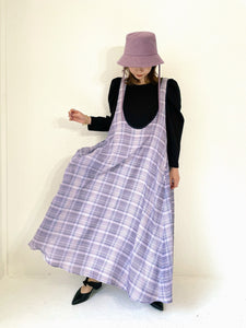 SHEER CHECK SWING DRESS