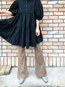VELOUR FLARE PANTS
