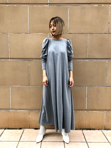 COTTON PIQUE PUFF DRESS