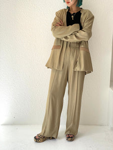 SATIN DRESS TROUSERS
