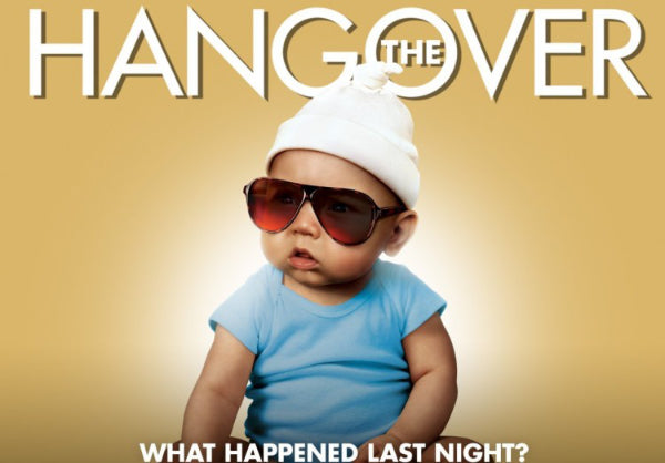 The baby from the movie The Hangover wearing sunglasses