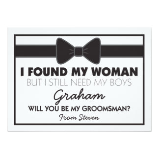 12 Creative Ways To Propose To Your Groomsmen from GroomsShopcom