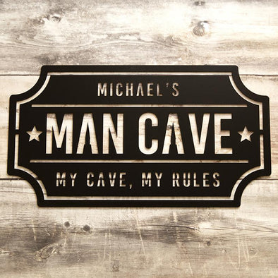 Personalized Man Cave Metal Sign – Michael Design