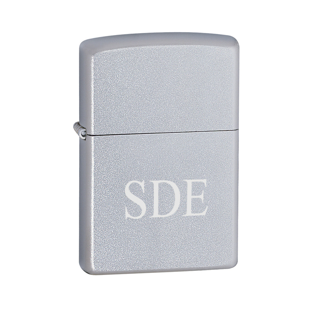 Personalized Lighters - Zippo - Satin Chrome