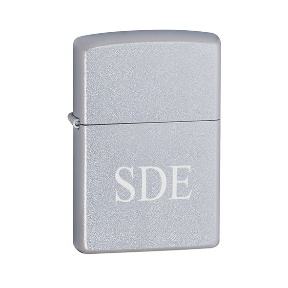 Personalized Lighters - Zippo - Satin Chrome-3Initials-