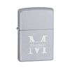 Personalized Lighters - Zippo - Satin Chrome-Stamped-