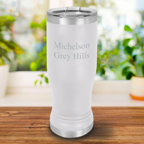 Personalized 20oz Pilsner - White