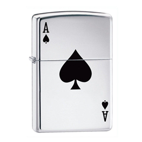 Engraved Zippo Aces Lighter