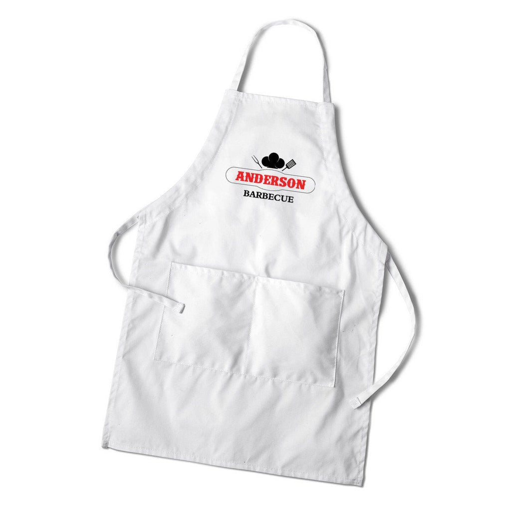 Personalized White Grilling Apron  sc 1 st  GroomsShop.com & Personalized Groomsmen White Grilling Apron